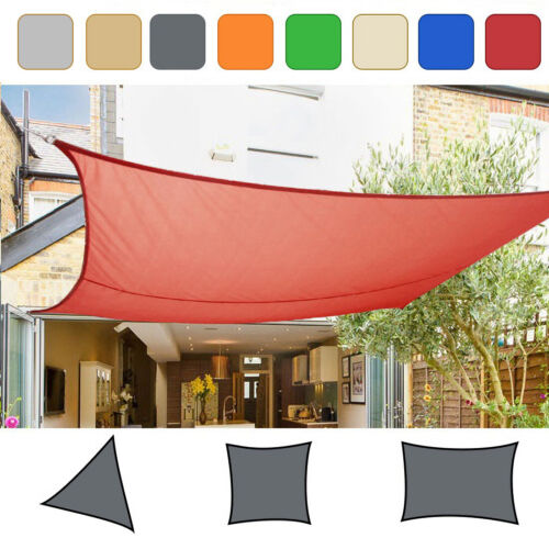 Sun Shade Sail Garden Patio Sunscreen Awning Canopy Screen 98% UV Block Greenbay <br/> Rectangle / Square / Triangle in 7 colour 12 size