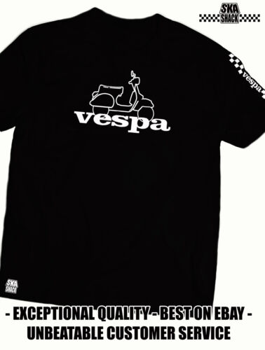 Vespa T Shirt - EXCLUSIVE to Ska Shack - Scooter clothing - Small - 5XL