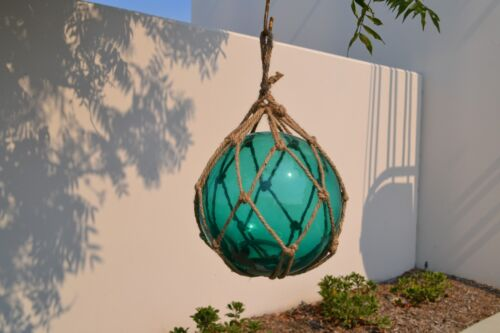 REPRODUCTION TURQUOISE GLASS FLOAT FISHING BALL BUOYS 12&quot; #F-1029<br/>Fishing Nets & Floats - 37968