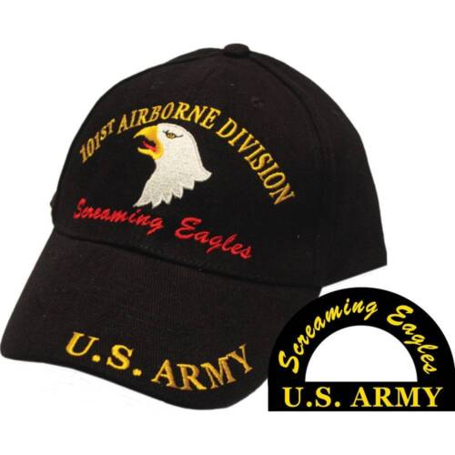 U.S. Army 101st Airborne Screaming Eagles Black Hat Cap USAArmy - 66529