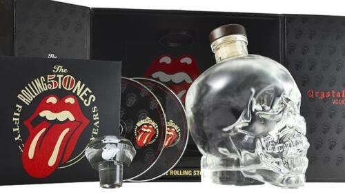 Crystal Head Rolling Stones Vodka Gift Pack 700ml Limited Edition
