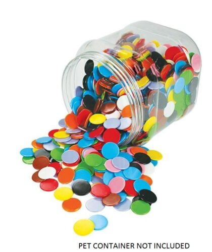 Counters Solid 22mm 100p  Bag 10 Colours Maths Games Teacher Resources Learning