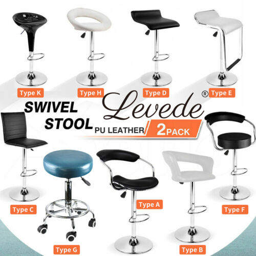 2x/ 4x PU Leather Swivel Bar stool Kitchen Dining Chair Gas Lift Adjustable <br/> Best Price/Top Quality/AU Stock/Fast &amp;Free Shipping