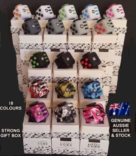 OVER 2900+ SOLD, Deluxe Fidget Cube Anxiety Stress Relief Focus Attention  🇦🇺