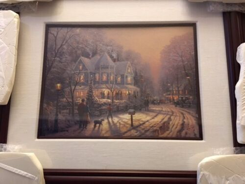 "THOMAS KINKADE - A HOLIDAY GATHERING"" LITHO WITH COA AND APPRAISAL 2595/6850 SN"