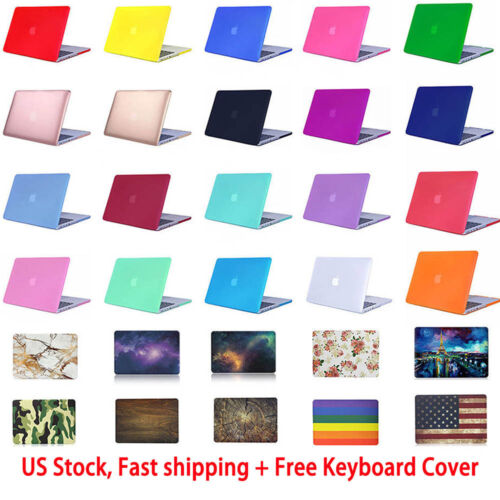 """Rubberized Hard Case For MacBook Air/ Pro/ Retina 11/12/13/15"""" + Keyboard Cover"""
