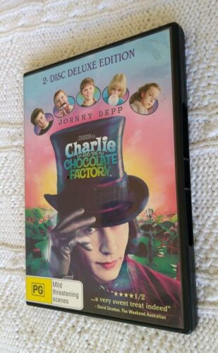 CHARLIE AND THE CHOCOLATE FACTORY – DVD, R-4,LIKE NEW, FREE POST IN AUSTRALIA