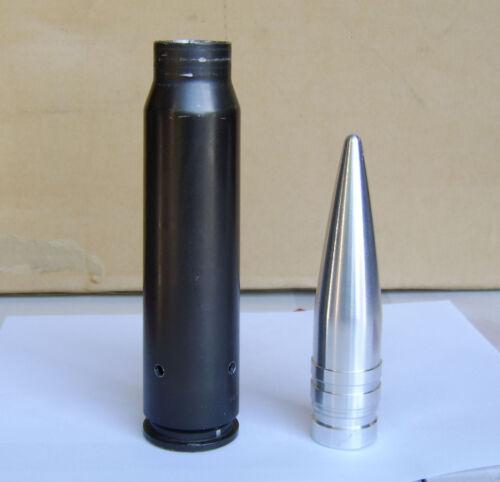 30mm Replica projectile, machined solid ALUMINUM, authentic size A-10Other Militaria - 135