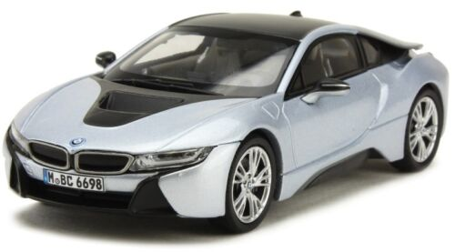 PARPA91053 - Voiture sportive BMW i8 Ionic couleur grise - 1/43