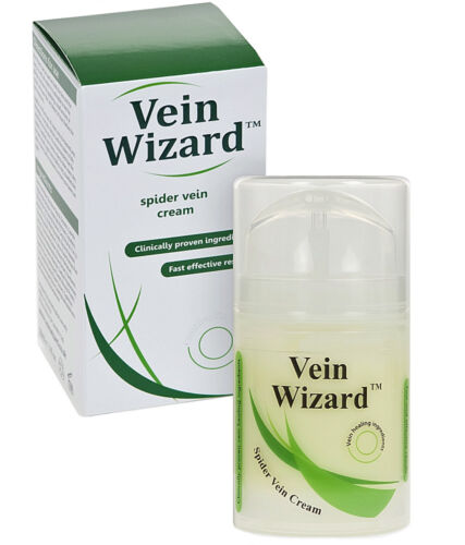 Vein Wizard Spider Vein Healing Cream with Horse Chestnut Extract &amp; Vitamin K <br/> Free next day delivery and 30 day money back guarantee!