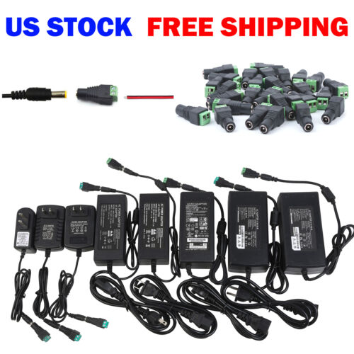 Wholesale Power Supply Adapter DC 12V 1/2/3/5/6/8/10A 3528 5050 LED Strip Light <br/> USA Stock!  Free shipping! Top Quality! 1 DAY Handling!
