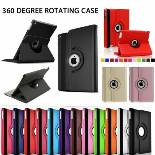 360 Rotating Stand PU Leather Ultra Case for Apple iPad 2/3/4 Air1/2, Mini 1/2