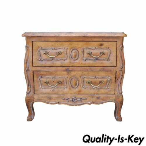 Vintage Miniature French Louis XV Style Italian Distress Finish Commode Chest<br/>Post-1950 - 162890