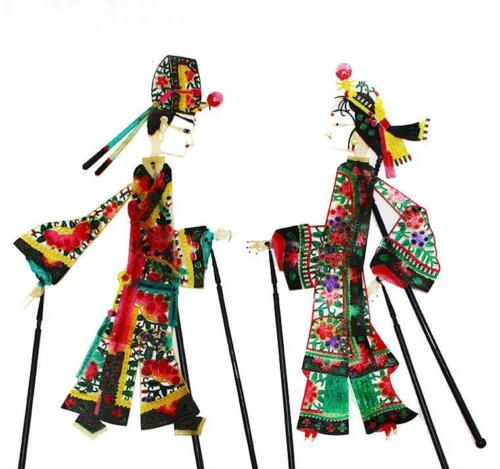 Chinese Tradition Art Vintage Dynamic Shadow Play Puppets Crafts Handmade Gift