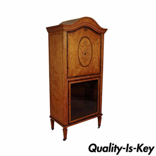Antique Satinwood Musical Inlaid French Adams Sheet Music Cabinet Etagere Stand<br/>1800-1899 - 63563
