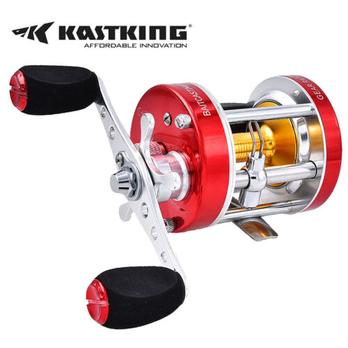 KastKing Rover Conventional Reel Round Saltwater Baitcasting Fishing Reel  <br/> Catfish Reel / Solid Construction / Metal Body