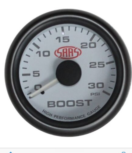 "SAAS 52MM 2"" INCH DIESEL BOOST GAUGE MULTI COLOUR 4x4 HIlux ,Patrol ,Landcruiser"