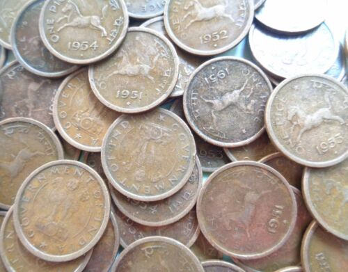 100 COINS LOT - 1950 1951 1952 1953 1954 - HORSE PICE Mixed - india <br/> Mixed.The years will not be in equal proportion