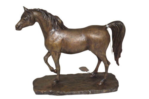 "Horse Bronze Sculpture by Vidal -  Size: 15""L x 5.5""W x 14""H."