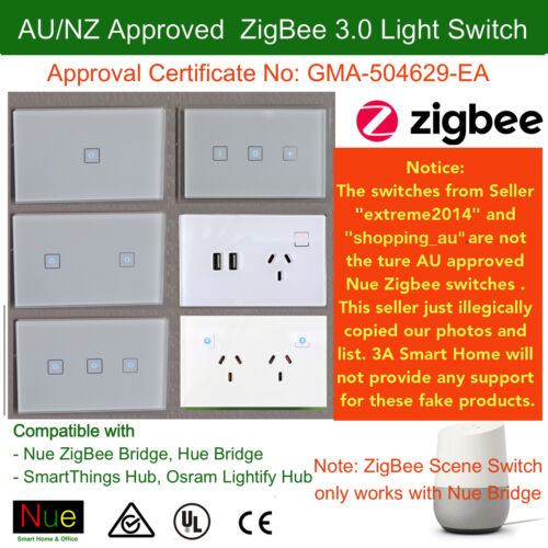 Smart ZigBee Light Switch / Dimmer for Google Home Mini Echo control lights