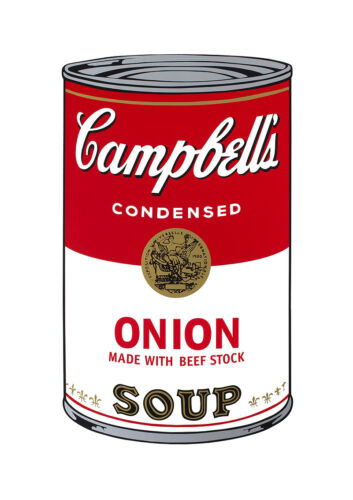 Soup Can Series #1 Onion by Andy Warhol A2 High Quality Canvas Print