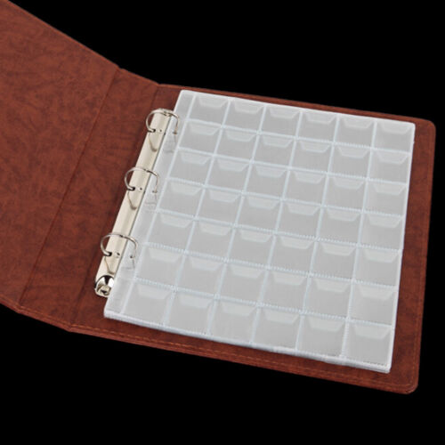 10 Pages 42 Pockets Plastic Coin Holders Storage Collection Money Album Case PA