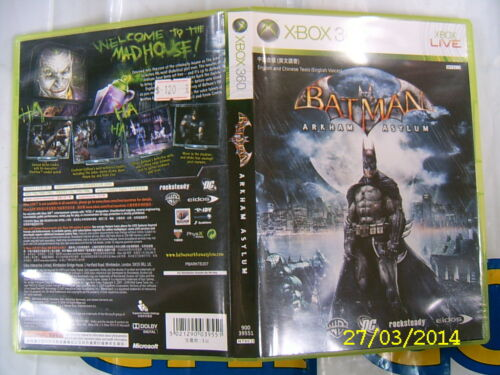 XBOX360 GAME BATMAN ARKHAM ASYLUM (ORIGINAL USED)