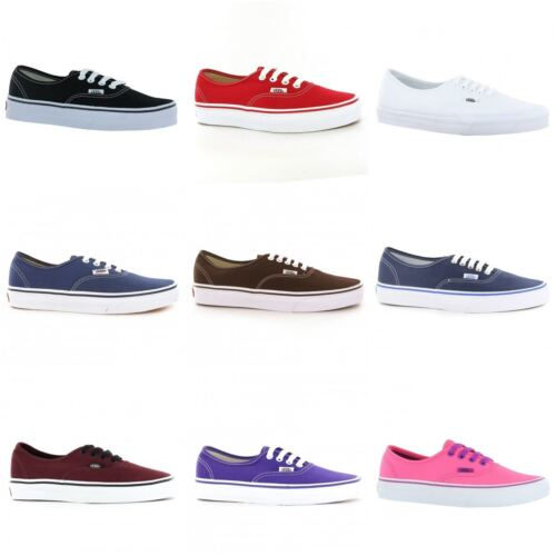 Vans Authentic Unisex Mens Womens Ladies Trainers With Waffle Outsole