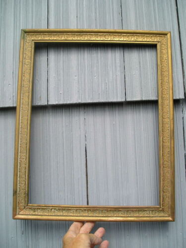 Vintage Pressed Pattern Cottage Style Gold Gilt Swirl Picture Frame 11 x 14<br/>Picture Frames - 40024