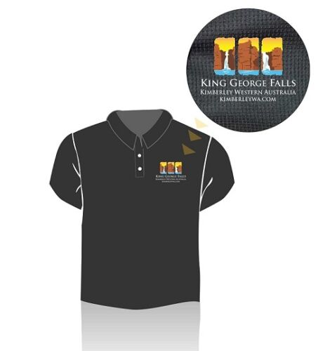 King George Falls Polo Shirt - size SMALL