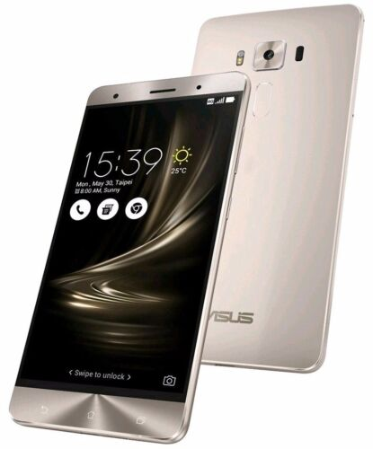 ASUS ZenFone 3 Deluxe ZS570KL Silver (Factory Unlocked) 64GB 5.7&quot; HD 6GB RAM <br/> in Stock  ✈ WORLDWIDE SHIPPING ✈ USA SELLER !! ✤