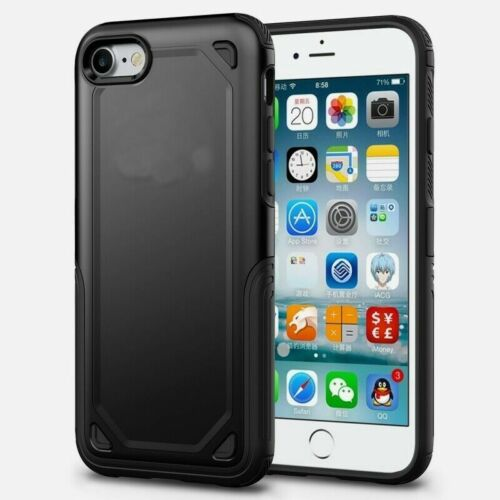 Hybrid Black Armour Case for iPhone 7 Shock Proof Back Cover