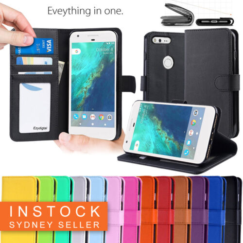 New Leather Wallet Case Cover For Telstra Google Pixel XL + Screen Protector <br/> 【ON SALE 】【QUALITY WALLET】【SYDNEY SELLER】【SCREEN GUARD】