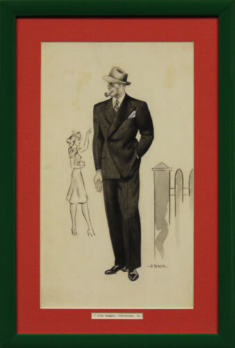 """""""Watercolor of Abercrombie & Fitch Dapper Gent"""""""