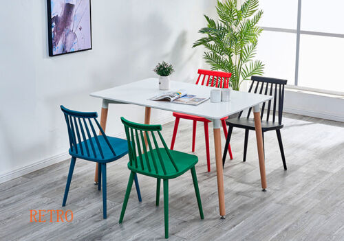 Dining table and plastic  Eiffel  chairs retro .