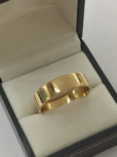 9ct 9k Yellow Gold Plain Flat Wedding Band 6mm | Size Z | Brand New In Store