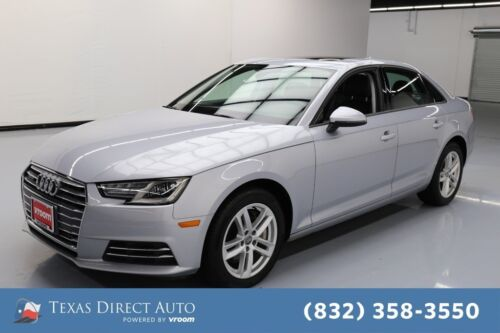 2017 Audi A4 Premium quattro Texas Direct Auto 2017 Premium quattro Used Turbo 2L I4 16V Automatic AWD Sedan