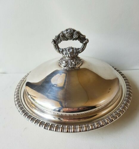 Hecworth Reproduction Old Sheffield DP Silver Dome Dish W/Lid - Approx. 1.4kg