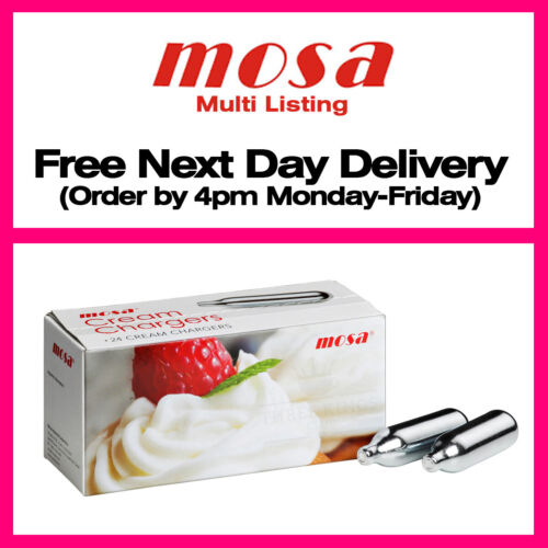 8g Mr Whip Whipped Cream Chargers Canisters Pure N2O NOS NOZ &amp; Mosa Dispensers <br/> Silver Mr Whip Chargers - Free Saturday Delivery