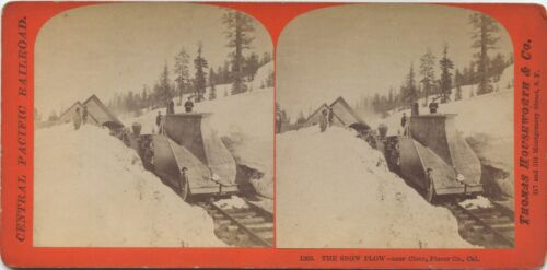 Thomas Houseworth & Co. # 1263 (1860's) The Snow Plow near Cisco, Placer County