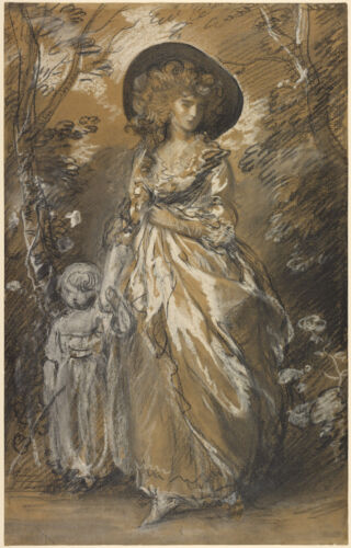 Thomas Gainsbrough Reproduction: A Lady Walking in a Garden - Fine Art Print