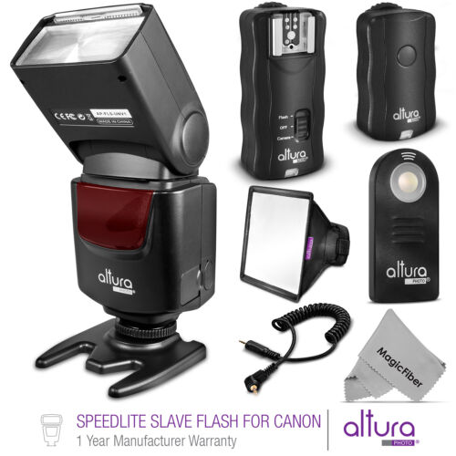 Universal Manual Slave Flash + Wireless Trigger Kit for Canon by Altura Photo&reg; <br/> #1 Best Seller Kit for Canon / FREE 2-4 Day Shipping!