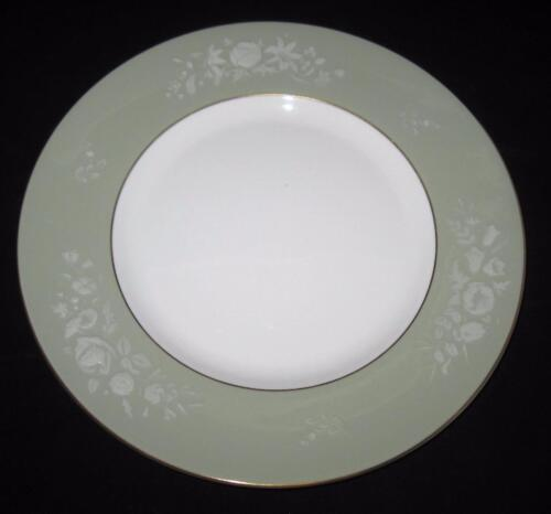 """Royal Worcester, SHERATON Embossed Flowers Green Band,  6 1/8"""" Bread Plate"""