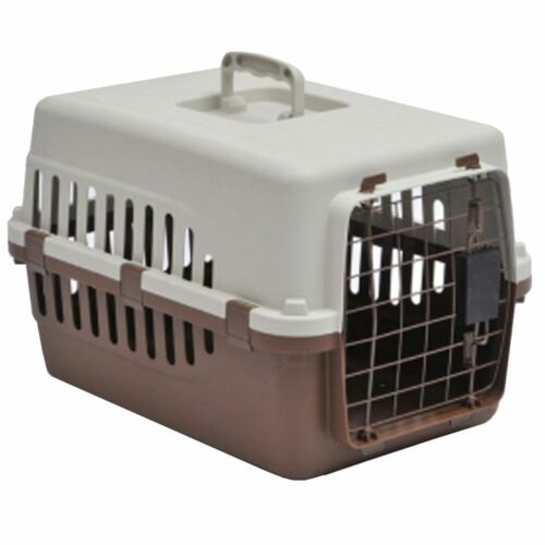 Pet Carrier Cage Dog Cat Kitten Puppy Travel Vet Transport Portable White Brown <br/> ORDER BY 2PM FOR NEXT DAY DELIVERY-CHEAPEST ON EBAY