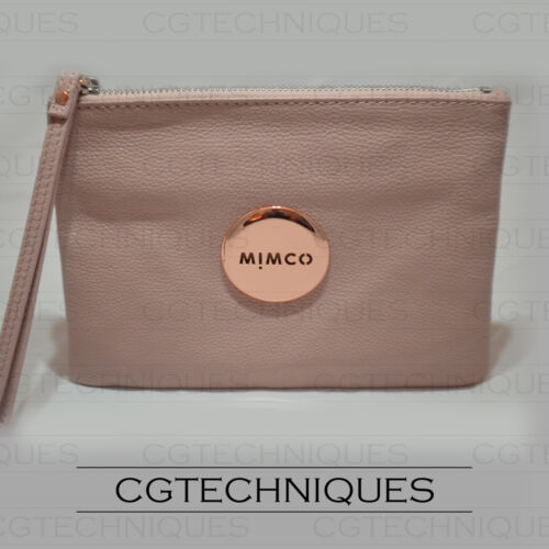 MIMCO BLOSSOM PINK ROSE GOLD MEDIUM POUCH WALLET LEATHER RRP $99.95