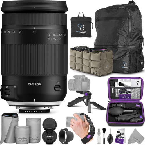 Tamron 18-400mm f/3.5-6.3 Di II VC HLD Lens for Canon EF with Accessories Bundle