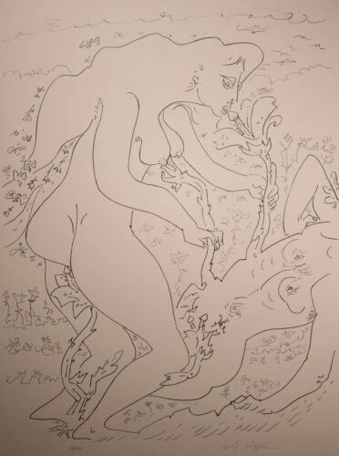 "Andre Masson Limited Edition Lithograph ""Terre Erotique"" RARE & Signed, NICE!"