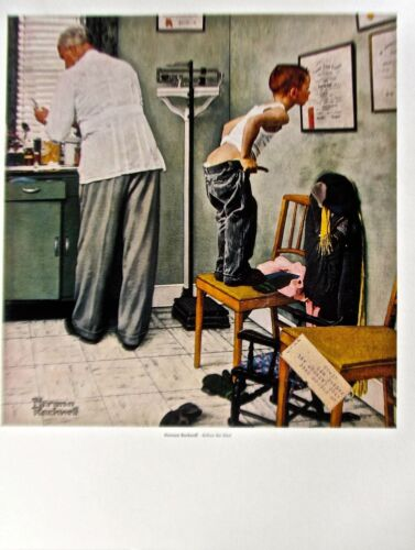 Norman Rockwell BEFORE THE SHOT Poster Offset Lithograph Unsigned 14x11