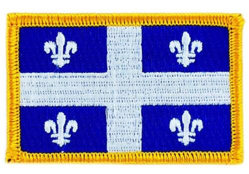 Patch écusson brodé Drapeau  QUEBEC FLAG  Thermocollant CANADA