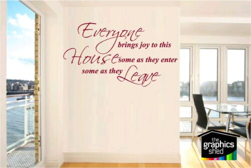 Everyone Brings Joy WALL ART STICKER DECAL QUOTE VINYL HOME HALL LIVING